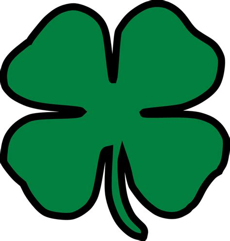 Clover Clip Clover Four Leaf Lucky 183 Free Vector Graphic On Pixabay