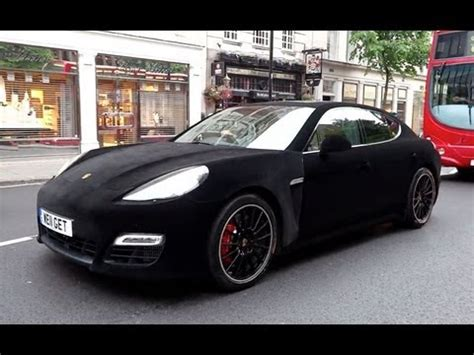 velvet wrapped porsche panamera turbo  london youtube