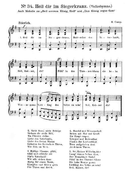 God Save the Queen Heil dir im Siegerkranz - Piano, Stem