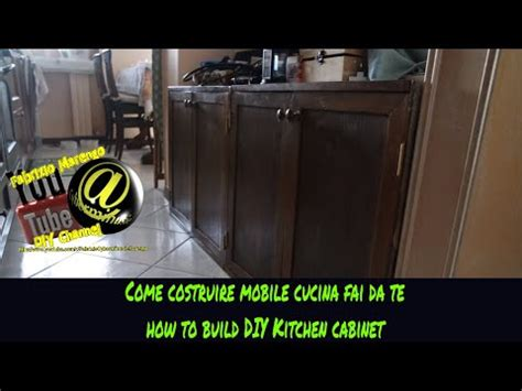 Costruzione Mobile Cucina In Legno Fai Da Te (tutorial How