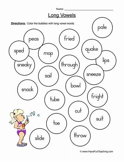 Worksheets Worksheet Vowels Coloring Vowel Phonics Havefunteaching
