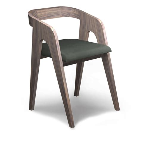 the walnut chair salome savelon meubles design