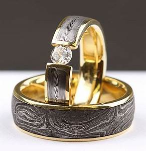 these rings are made out of vintage gun barrels from 1870 With mens shotgun barrel wedding ring