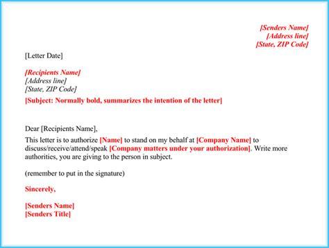 authorization letter  act  behalf