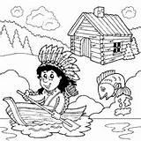 Coloring American Pioneer Surfnetkids Pages sketch template