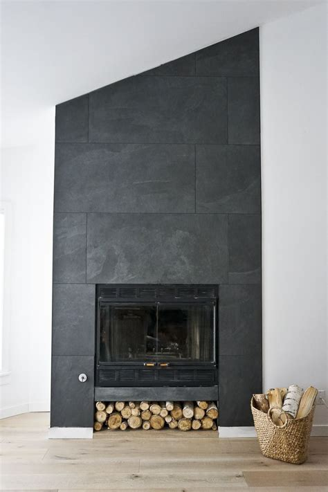 fireplace wall tiles the ravine house s finished fireplace ceiling porcelain tile and porcelain