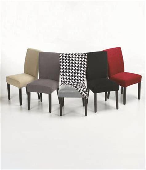 housses de chaises extensibles housse extensible velours chaise de salle à manger