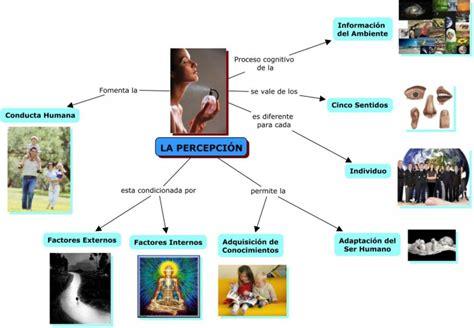 mapas mentales  conceptuales sobre percepcion cuadro