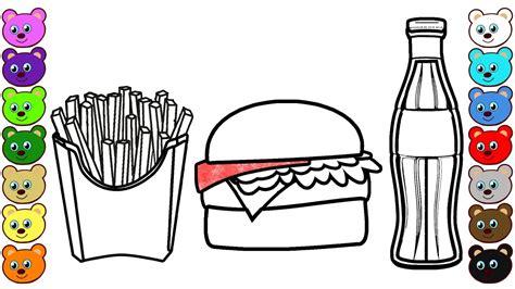 Hamburger, Soda And French Fries