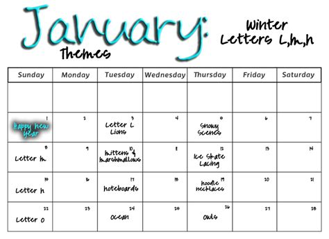 smarty preschool monthly calendars 307 | January%2B2011