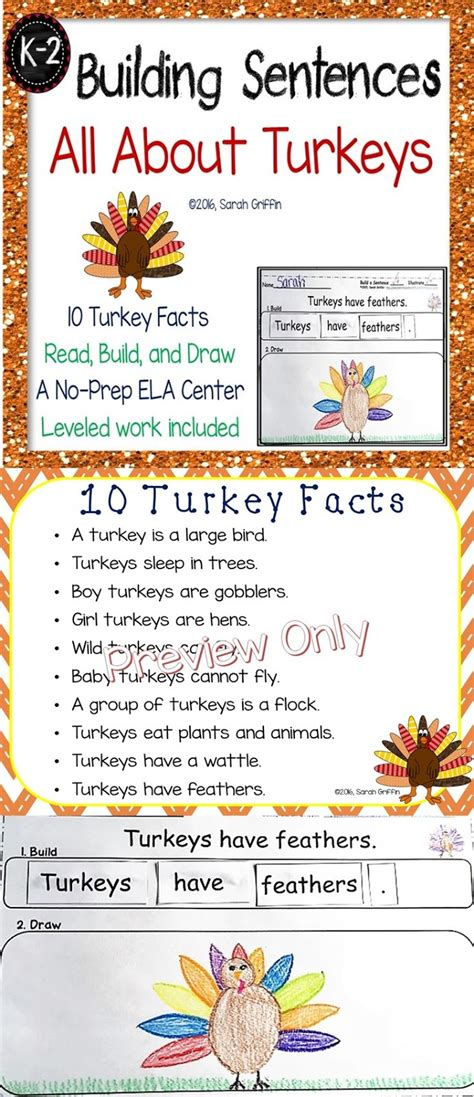 thanksgiving facts for preschoolers daughters and kindergarten ten turkey facts for 992
