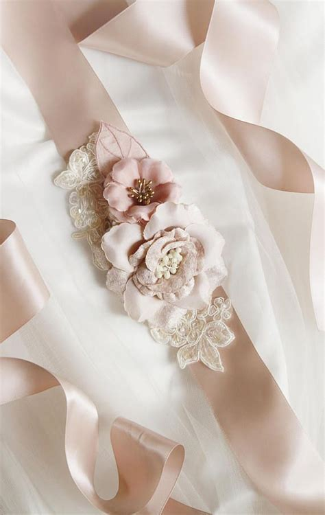 bridal sash belt wedding dress sashes belts taupe tan