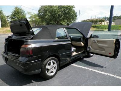 volkswagen convertible 2000 buy used 2000 vw cabrio convertible georgia owned leather