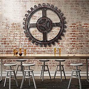 Industrial, Style, Wooden, Gear, Wall, Decor, Antique, Home, Bar, Pub, Hanging, Art, Decor, 24cm