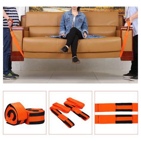 2x orange adjustable straps forearm lifting and moving