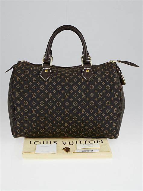 louis vuitton ebene monogram mini lin speedy  bag