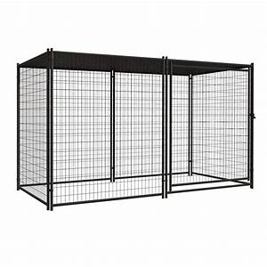 Image gallery outdoor dog kennels for Lowes outdoor dog pens