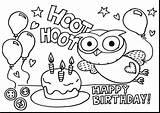 Coloring Birthday Happy Printable sketch template