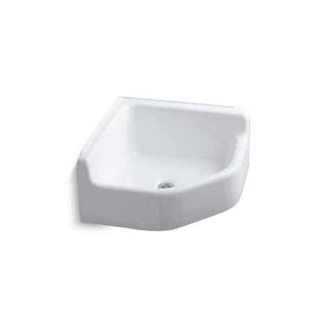 lowes cast iron sink shop kohler 23 in x 23 in single basin white freestanding