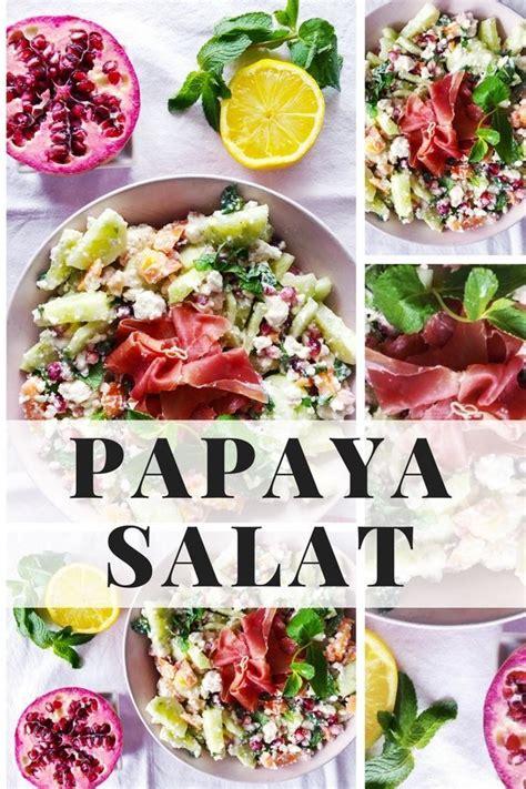 papaya essen anleitung papaya salat mit mango paprika gurke und granatapfel zuckerfrei essen zuckerfrei leben