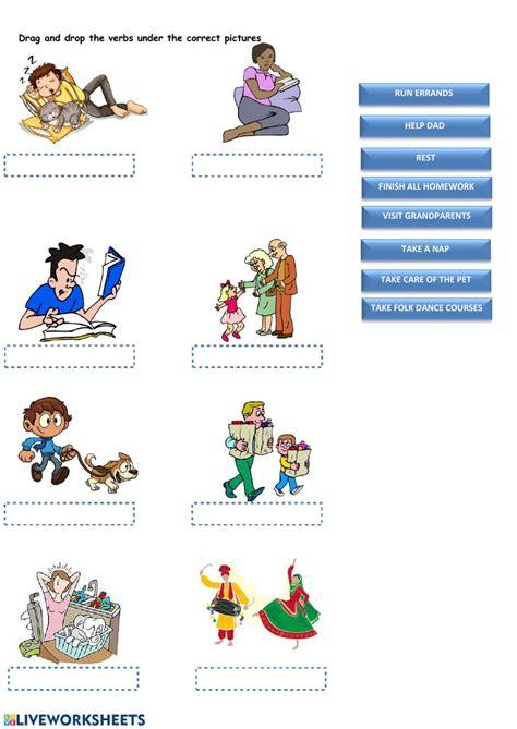 daily routine daily activities worksheet  worksheet blog