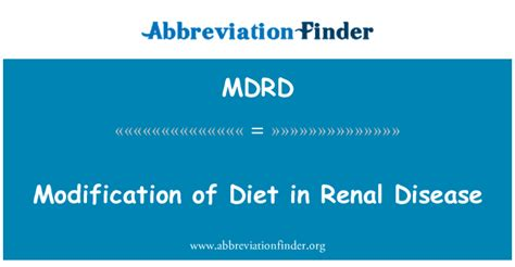 Modification Of Diet In Renal Disease by Mdrd Definici 243 N Modificaci 243 N De La Dieta En La Enfermedad