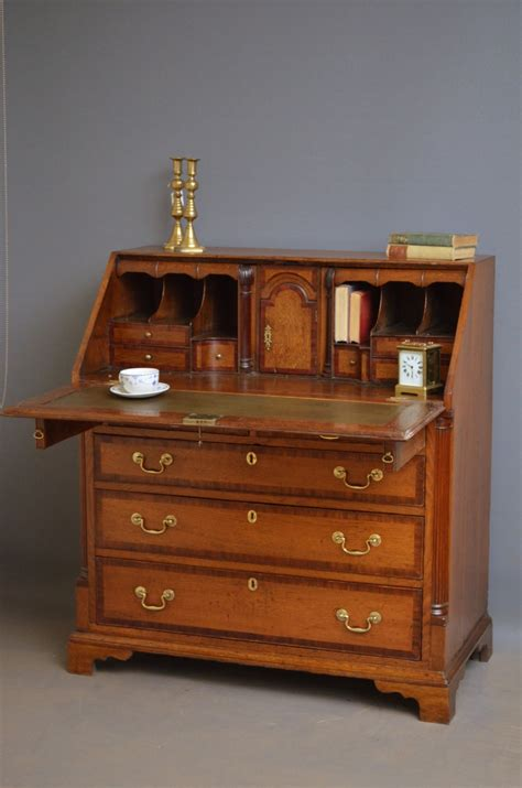 oak writing bureau uk georgian oak bureau antique writing desk 373703