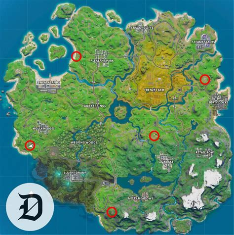 locate ego outposts  fortnite chapter  dot