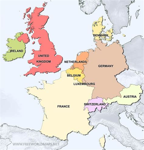 western europe political map