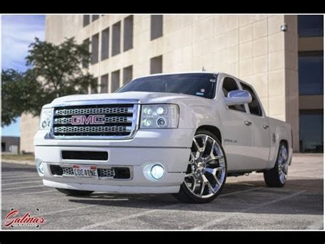 dropped gmc sierra crewcab   hd denali front  conversion   youtube