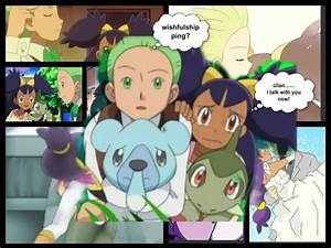 Pokemon Cilan And Iris Kissing Images   Pokemon Images