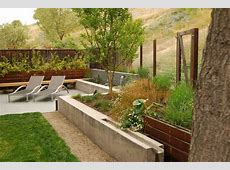 integral color concrete landscape modern with garden wall
