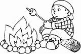 Coloring Campfire Fire Pages Camp Popular sketch template