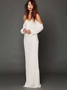 free people temptress cold shoulder maxi 60800 white With cold shoulder wedding dress