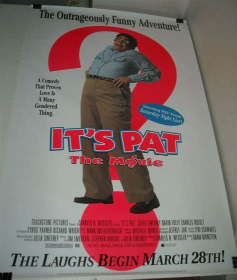 ROLLED IT's PAT VIDEO PROMO MOVIE POSTER JULIA SWEENEY ...