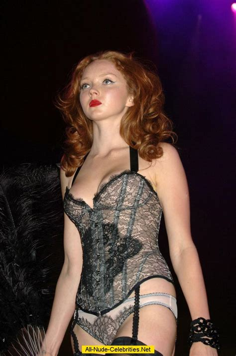 Lily Cole shows her long legs catwalk shots
