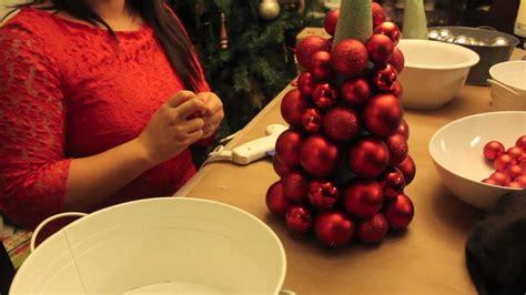 christmas ornament ball tree youtube