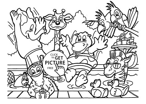 Zoo Animals Coloring Page For Kids, Animal Coloring Pages