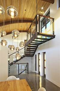 glass-pendant-lights-Staircase-Modern-with-ceiling