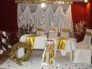 Décoration Salle Mariage : decoration mariage en dor e deco salles fetes ~ Melissatoandfro.com Idées de Décoration