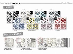 Stickers Carreaux De Ciment : sticker carreaux de ciment ginette noir ~ Melissatoandfro.com Idées de Décoration
