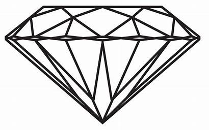 Diamond Drawing Transparent Clipart Background Clip Line