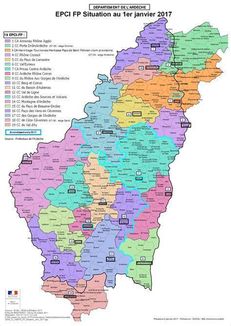 chambre d agriculture drome carte des communautés de communes et agglomérations epci