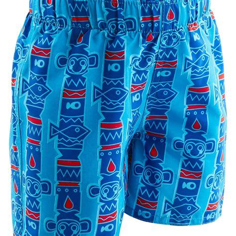 short de nage bebe garcon imprime  totem bleu nabaiji