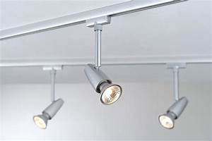 Rail De Spot : eclairage tableau eclairage sur rail plafond halog ne spot barelli led 6 5w paulmann ~ Dallasstarsshop.com Idées de Décoration