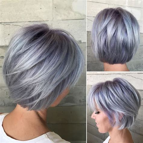 50 Gray Silver Hair Color Ideas in 2019 Street Style