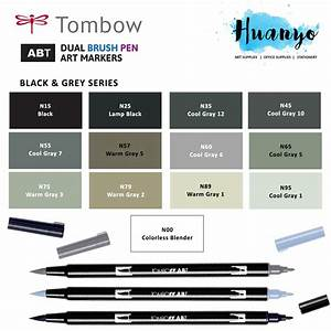 Tombow Abt Dual Tips Drawing Calligraphy Brush Pen