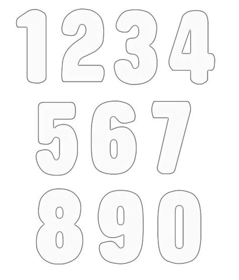numbers black and white black and white numbers clipart clipground