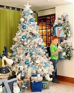 Sapin Noel Blanc : decoration de noel bleu et rouge ~ Preciouscoupons.com Idées de Décoration