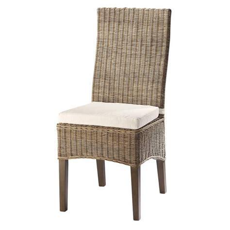 chaises maisons du monde chaise en rotin et mahogany massif hton maisons du monde